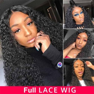 SokuccaFull LaceWig Natural Hairline WaterWave 150% Density thick Wave