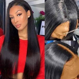 Sokucca No Glue&No Sew In Straight U-Part Hot Sale Human Hair Wig