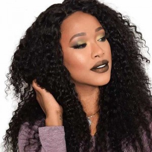 Sokucca Indian Deep Curly 4 Bundles With 13x4 Transparent Lace Frontal