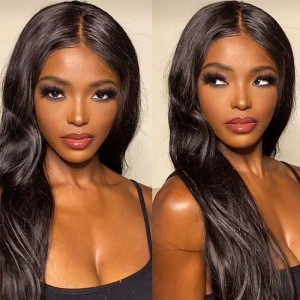 Sokucca Indian 4 Bundles Virgin Straight Hair With Transparent Lace Closure
