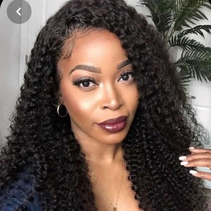 Sokucca Deep Curly Hair 3 Bundles With 4X4 Transparent Lace Closure Indian Hair