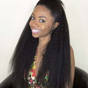 Sokucca Indian Transparent Lace Closure With 4 Bundles Top Quality Kinky Straight Weave