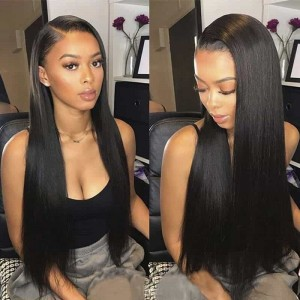 Sokucca Indian 4 Bundles Straight Virgin Human Hair With 13X4 Lace Frontal