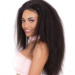 Sokucca Indian Kinky Straight Transparent Lace Closure With 3 Bundles Free Shipping