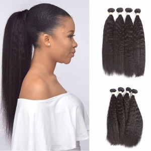 Sokucca Indian Virgin Hair Kinky Straight Products 4pcs Bundles Wet And Wavy