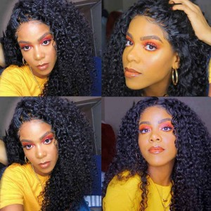 Sokucca 4X4 Kinky Curly Human Hair Lace Wig For Black Women