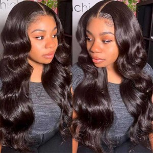 Sokucca Indian Body Wave Human Hair Weave 3 Bundles With Frontal