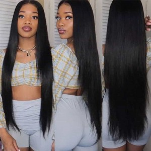 Sokucca Straight Indian Virgin Hair Weave 3 Bundles With 4X4 Closure