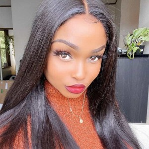 Sokucca Straight Human Hair 4 Bundles Sew In Virgin Peruvian Hair Weave 8-30 Inch