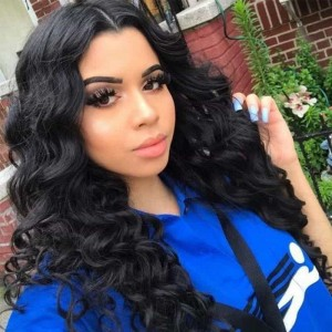 Sokucca Free Part 13x4 Lace Frontal Brazilian Loose Wave With 3 Bundles